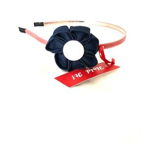 Other - NWT navy and pink flower headband